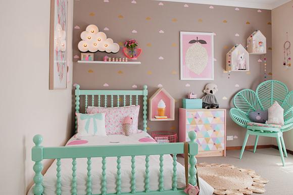 Quelques idées de peinture pour la chambre d\'une fille – Une ...